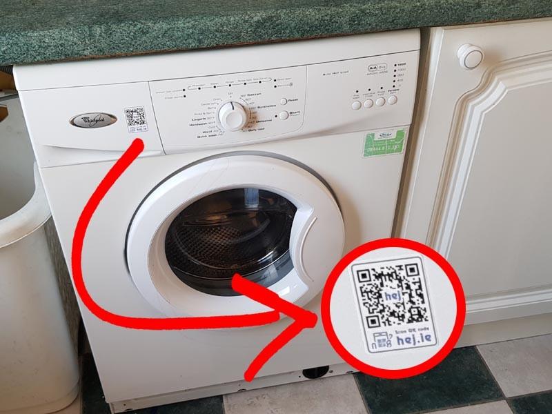 QR kood ja kodutehnika sobivad ideaalselt kokku