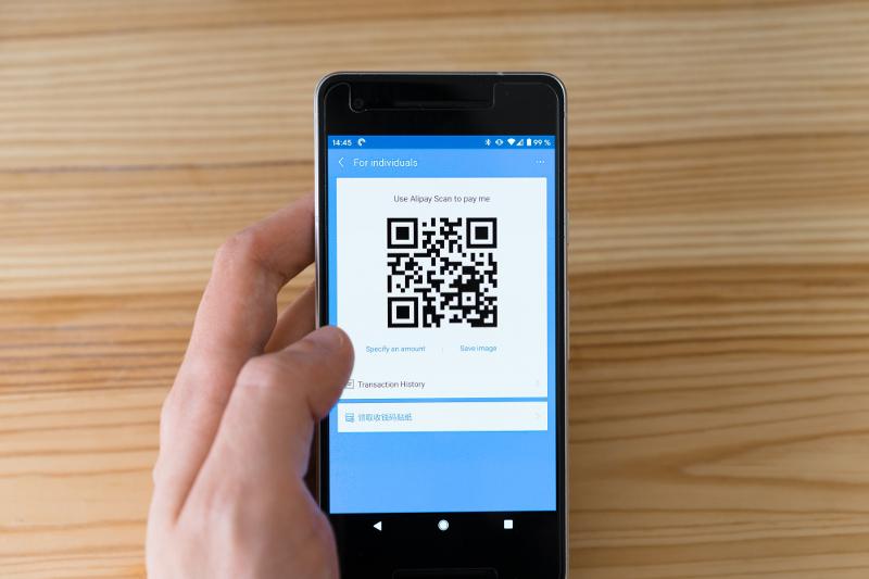 QR kood on kasutatav nii telefonis kui tahvlis